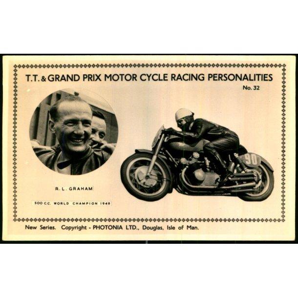 T.T. & Grand Prix Motor Cycle Racing - R.L.Graham - Photonia 32 - Ubrugt