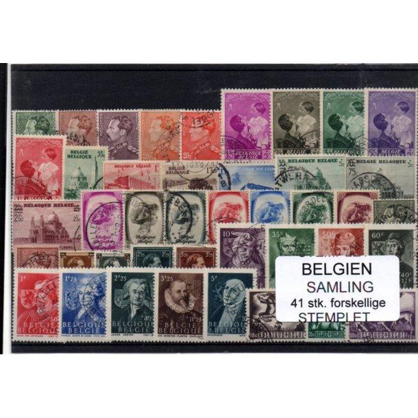 Belgien - Samling - 41 stk. Stemplet