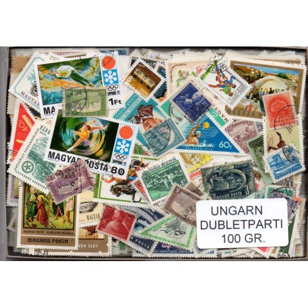 Ungarn Dubletparti 100 gram papirfrie frimærker.