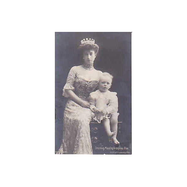 Dronning Maud og Kronprins Olav.