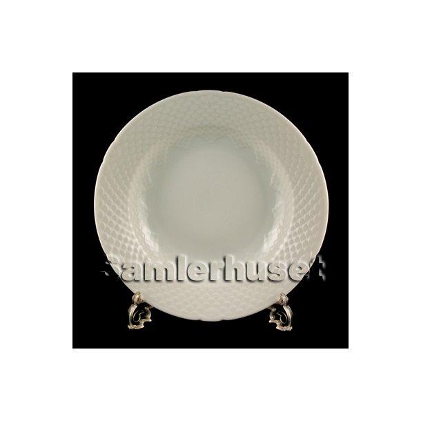 Elegance Hvid Tallerken dyb 21 cm.