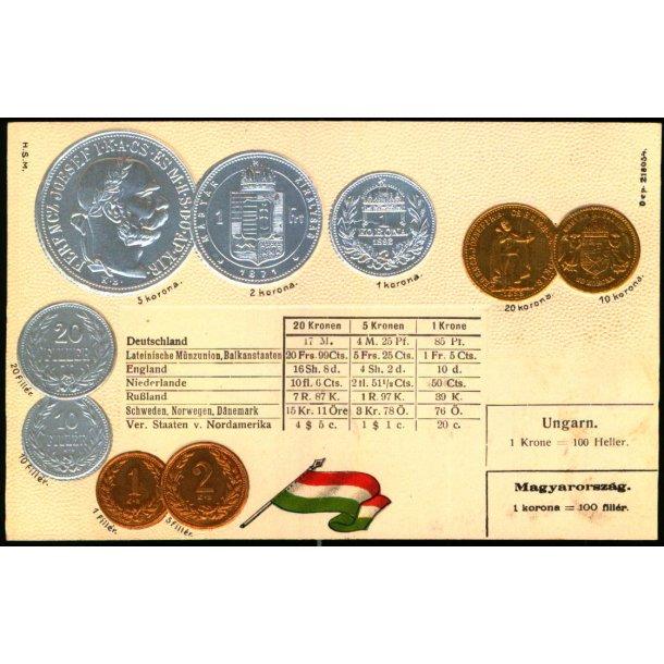 Møntpostkort - Ungarn - Dep. 218054